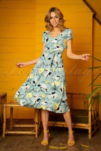 70s Shiloh Del Rey Dress in Blue Haze