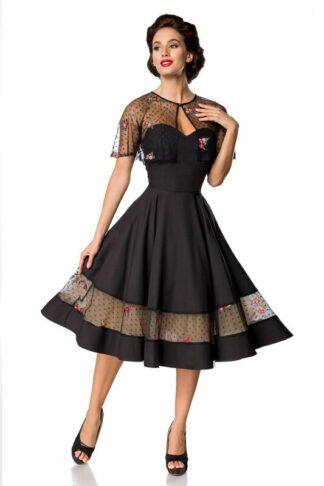 Belsira Vintage-Kleid mit Cape
