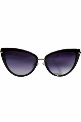 Dita Cats Eye Sonnenbrille Schwarz Silber