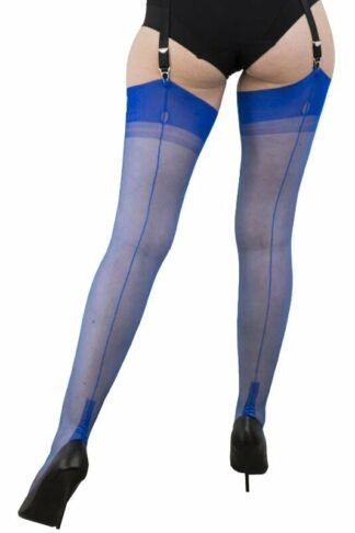 Gio Nylons Cuban Heel Blau