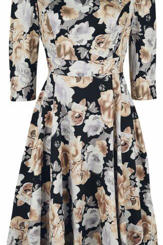 H&R London Glamorous Flower Tea Dress Mittellanges Kleid multicolor