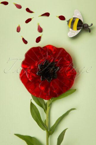 TopVintage Exclusive ~ 60s Poppy Field Brooch