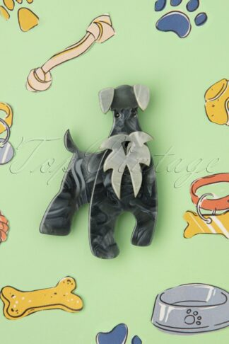 TopVintage exclusive ~ The Schnauzer and Klaus Brooch