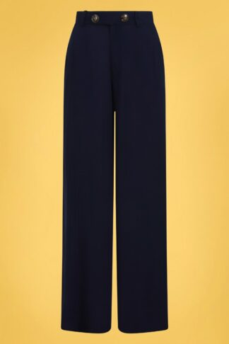 40s Stella Atomic Star Trousers in Navy