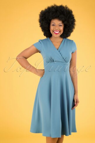 50s Addison Swing Dress in Pretty Blue