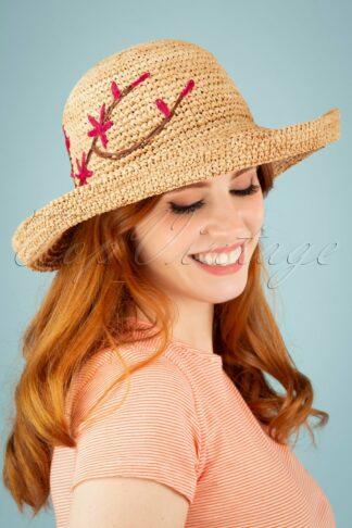50s Amrita Raffia Hat in Natural