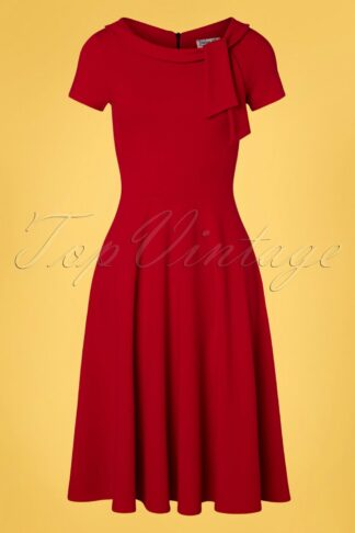50s Beverly Swing Dress in Lipstick Red