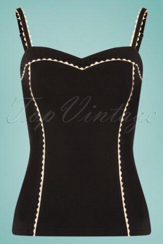 50s Capri Top in Black