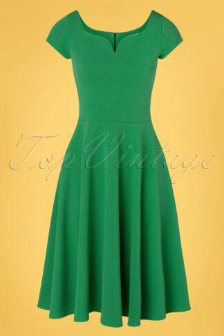 50s Carin Swing Dress in Leprechaun Green