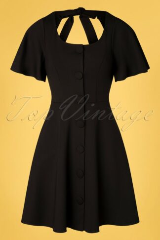 50s Felicity Flare Dress in Black