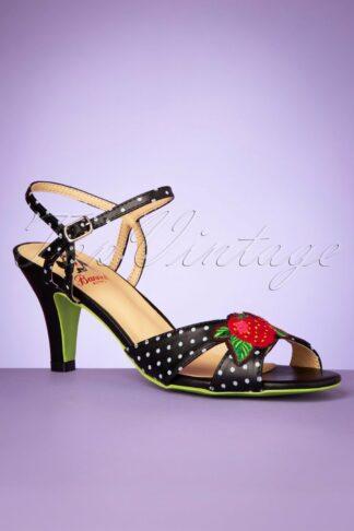 50s Fragola High Heeled Sandals in Black