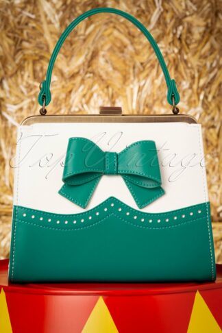 50s Inez Sweet Treat Bag in Ivory and Jade