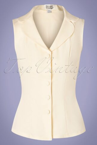 50s Polly Top in Cream