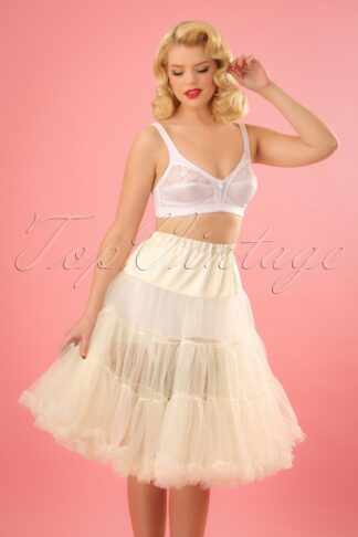 50s Retro Chiffon Petticoat in Cream