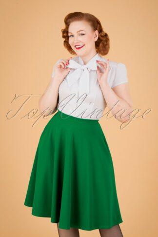 50s Sheila Swing Skirt in Emerald Green
