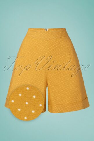 50s Spot Perfection Shorts in Mustard