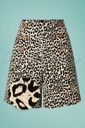 50s Wild Child Shorts in Cream