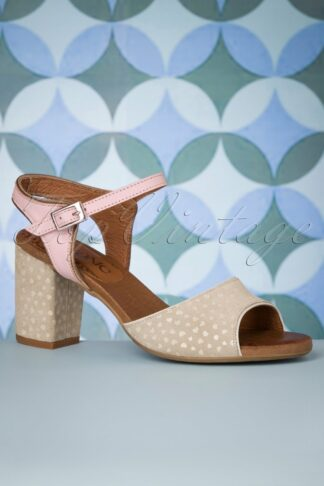 60s Arena Leather Sandals in Sand
