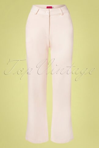 60s Babs Baggy Trousers in Cloud Pink
