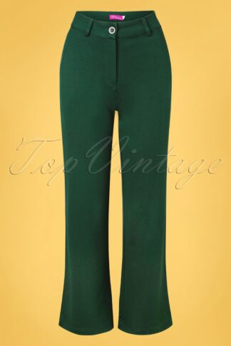 60s Babs Baggy Trousers in Punta Green