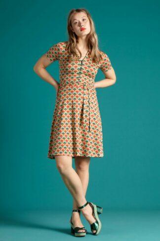 60s Emmy Carmel Dress in Pearly Dew