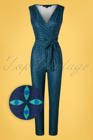 60s Gia Jumpsuit in Navy