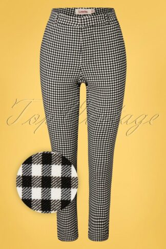 60s Joele Gingham Trousers in Black and White