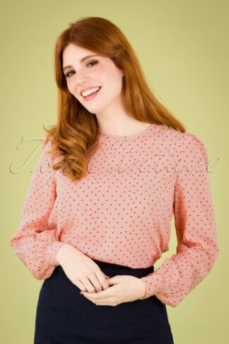 60s Lima Coeur Blouse in Pink