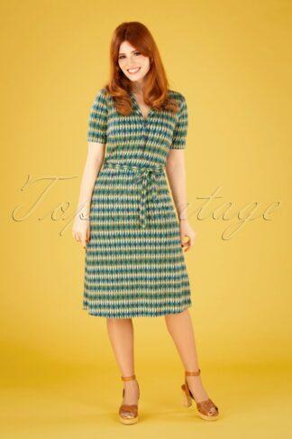 60s Lola Juniper Dress in Dazzling Blue