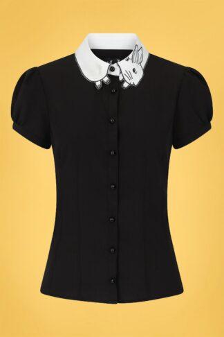 60s Panpan Blouse in Black