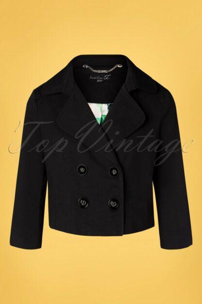 60s Tully Trench Blazer in Black