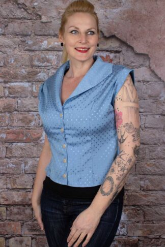 Banned Bluse Afternoon Tea Spot Polkadot von Rockabilly Rules