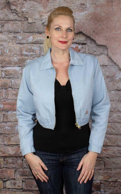 Dickies Frauen Worker Jacke Kiester, Fog Blue von Rockabilly Rules