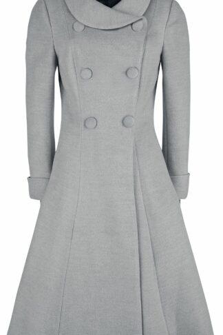 H&R London Anastasia Swing Coat Mantel grau
