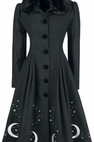 Hell Bunny Interstellar Coat Mantel schwarz