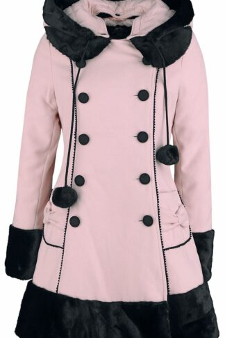Hell Bunny Sarah Jane Coat Wintermantel rosa