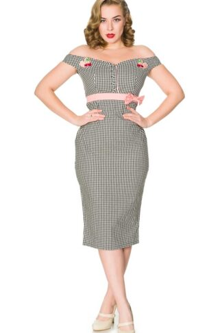 Timeless London Vintage Pencil Skirt Kleid Heartbreaker von Rockabilly Rules