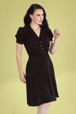 50s Camille Swing Dress in Black