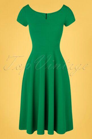 50s Carin Swing Dress in Emerald Green