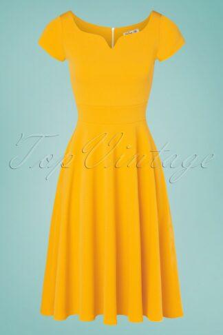 50s Carin Swing Dress in Honey Yellow