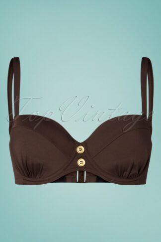 50s Colors of Luxor Bikini Top in Brown