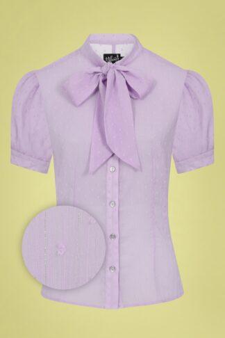 50s Frilly Sundae Blouse in Lavender