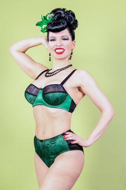 50s Ingrid Lace Bra in Green