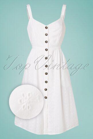 50s Remmy Dress in White