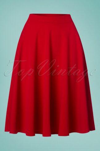 50s Sheila Swing Skirt in Lipstick Red