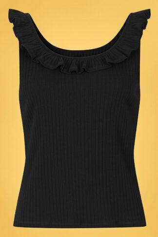 50s Yolanda Top in Black