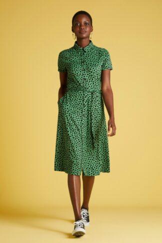 60s Olive Bobcat Dress in Neptune Green