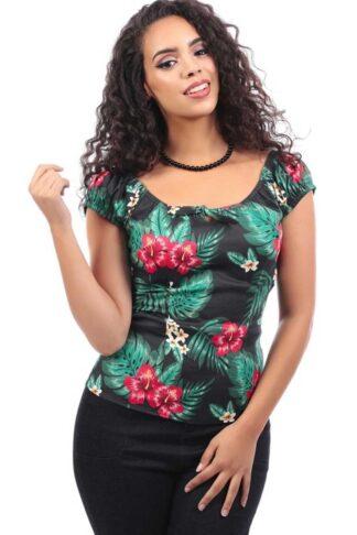 Collectif Lorena Tropical Paradise Top von Rockabilly Rules