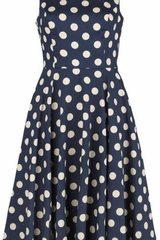 H&R London Zea Swing Dress Kurzes Kleid blau/weiß