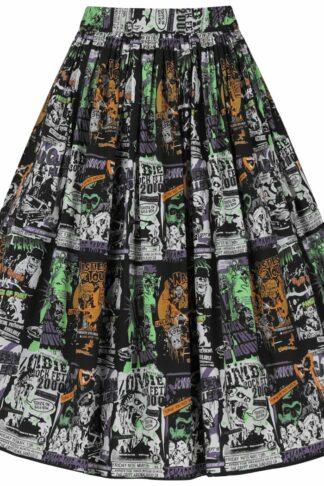 Hell Bunny - Be Afraid 50's Skirt - Kurzer Rock - multicolor